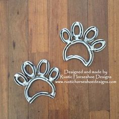 Matching paw prints, designed and made by Rustic Horseshoe Designs. Find us on facebook.