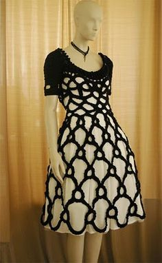 crochet dress. Love this!