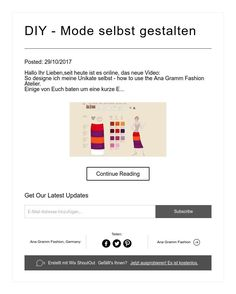 DIY - Mode selbst gestalten Diy Mode, Shopping