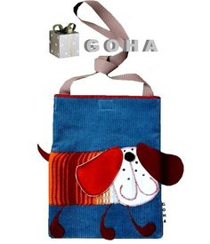 Cute dog book bag, looks like an easy gift for a kid or a kid at heart.     torebeczka (proj. GOHA), do kupienia w DecoBazaar.com