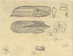 Norman Bel Geddes - Motorcar No. 9,composite drawing (c1932)