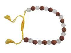 Meditation Bracelet Rudraksha Crystal Beads Hand Mala Yoga Room Decor, Crystal Beads, Crystals, Meditation Prayer, Hand Bracelet, Beaded Necklace, Hinduism, Bracelets, Jewelry