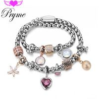 Pryme Fashion 2016 Endless Charms Bracelets DIY Jewelry 39CM Stainless Steel…