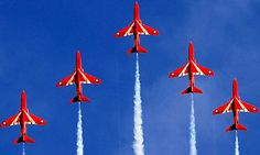 The Red Arrows create abstract patterns redolent of ancient Welsh art . Red Draw, Vermillion Red, Raf Red Arrows, Pin Image, Shades Of Red, Red White Blue, Abstract Pattern, Favorite Color, Jets
