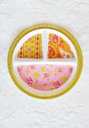 tea party spill-proof plate