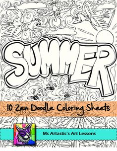 End of the Year Coloring Pages, Zen Doodles back to