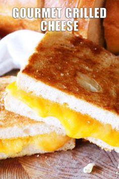 There's nothing that says comfort food like a grilled cheese sandwich! It's perfect for kid-friendly dinners and nights where easy dinners are a must! This one features fresh Cheddar and Havarti cheese and it is a gourmet twist on a classic! The best grilled cheese you've ever had -- guaranteed! Kid Friendly Dinner, Kid Friendly Meals, Dinners For Kids, Easy Dinners, Perfect Grilled Cheese, Grill Cheese Sandwich Recipes, Havarti Cheese, Dinner Sandwiches, Wrap Recipes