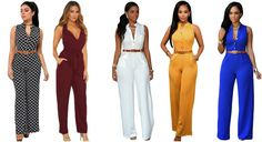 6c3b30dfb6 Jumpsuit Long Pants Women Rompers Sleeveless 2XL V-neck Belt Solid Sexy  Night Club Elegant Slim Jumpsuits Overalls