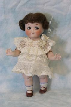 "Antique 6"" All Bisque Kestner Googly Doll with Jointed Elbow and Jointed knee"