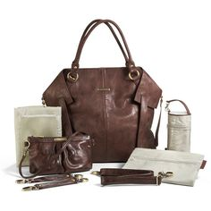 Charlie Diaper Bag Tote - Cocoa Brown by Timi And Leslie | Maternity... ($160) via Polyvore    Available at www.duematernity.com