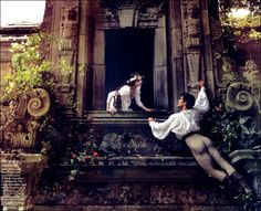 Romeo and Juliet by Annie Leibovitz, starring Coco Rocha and dancer Roberto Bolle as Romeo (note the beautiful booty).