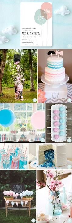 boy or girl gender reveal baby shower party ideas recipes