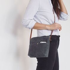 Waxed Canvas Bag small via MIKANU. Click on the image to see more!