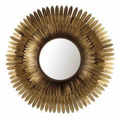 Miroir en métal doré D 103 cm | Maisons du Monde