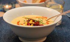 Cream Of Corn Soup, Soup Recipes, Vegetarian Recipes, Chili, Creamed Corn, Vegan, Chorizo, Cheeseburger Chowder, Dinner