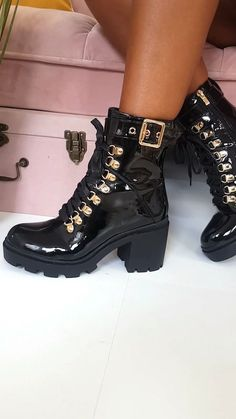 Women Boots Boot Shop Near Me Olive Green Boots Outfit High Gloss Tactical Boots Pink Knee High Boots Outfit Pink Knee High Boots, Lace Up Heel Boots, Black Heel Boots, Black Booties, Heeled Boots, Green Boots, Women's Shoes, Shoe Boots, Ankle Boots