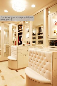 Very Pretty Closet Storage!! Got a real Sex in the City appeal to me! (Carrie's Closet Mr. Big built her in the movie)