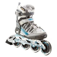Racing Skates - Rollerblade Activa 90 Womens Inline Skates  95SilverBlue -- Click image for more details.