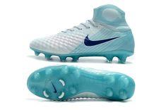 8010292f6798 Nike Magista Obra II FG Men Soccer Boots White Blue Black