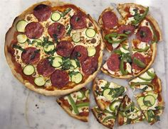 Such an easy Jamie Oliver pizza dough recipe! You don't need to let it rise/sit and can use your foodprocessor! Only four ingredients for the dough: selfrising flower, water, olive oil and salt.