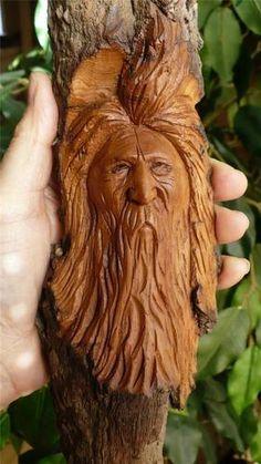 wood spirits, handmade wood carvings. Whimsical