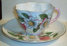 Shelley Cup & Saucer - Dainty Shape - Floral Pattern - C.1940-1966