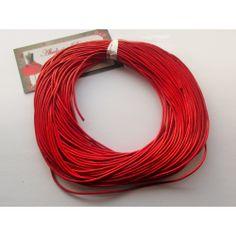 Cordón cuero naranja 1,5 mm