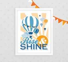 Rise & Shine Hot Air Balloon Nursery Decor /// 11 x by Kindertype