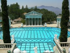 Hearst Castle ~ and why I picked the color of our pool! Oh The Places You'll Go, Places To Travel, Places Ive Been, Hurst Castle, Lap Swimming, Fly On The Wall, Carmel By The Sea, California Travel, Southern California