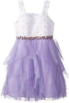 Rare Editions Big Girls' Cascade Dress with Gem Trim Waist, White/Purple, 12 Rare Editions http://www.amazon.com/dp/B00PWWVWGM/ref=cm_sw_r_pi_dp_bmK3ub1KAKJ0F