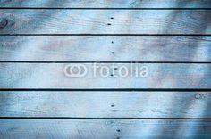 Grafika ze wzorem: Background of blue wooden boards