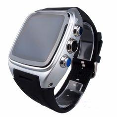 X01 smart electronics watch MTK 6572 Dual core sim card Android 4.4 Relogio Bluetooth 3G WIFI Camera GPS Smartwatch PK gt08 dz09