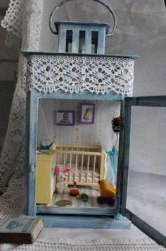 Dolls House from a lantern...cute!: