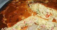 Ingredientes: MASSA: 4 ovos 1 xícara de leite 1 xícara de óleo 1/2 xícara de queijo parmesão 2 xícaras de farinha de trigo 1 colher (s...