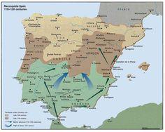Sephardic History, Iberian Peninsula Before and During Roman Rule. Iberia Under Islam. Spain History, History Of Portugal, World History, Jewish History, European History, Pamplona, Montpellier, Map Of Spain, Iberian Peninsula
