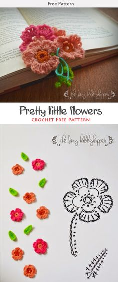 Pretty little flowers Crochet Free Pattern