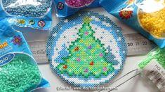 Christmas tree hama mini beads by Rachel