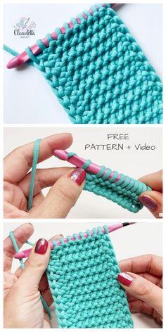 Crochet stitches 498210777527279717 - Easy Tunisian Crochet Purl Stitch Free Crochet Pattern + Video – DIY Magazine Source by audelaure Crochet Crafts, Crochet Projects, Free Crochet, Knit Crochet, Crochet Hot Pads, Crochet Shawl, Crotchet, Diy Projects, Tunisian Crochet Patterns