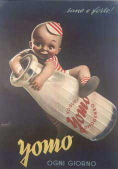 Vintage Italian Posters ~ #illustrator #Italian #vintage #posters ~ By Gino Boccasile (1901-1952), Yomo ogni giorno.