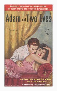 Lesbian pulp fiction cover …
