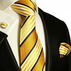 Elegant Paul Malone Mens Neck Tie Set 100 Silk 264CH