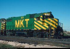 RailPictures.Net Photo: MKT 313 Missouri, Kansas & Texas Railroad (Katy) EMD GP38-2 at Dallas, Texas by David Hawkins