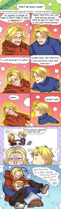 Don't Be Such A Baby by CreamyWay.deviantart.com on @deviantART France's nosebleed... XD