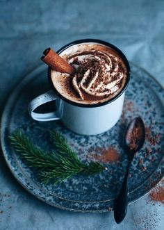 Life Is Sweet At Confectionery Bliss - hot chocolate with cinnamon and whipped cream