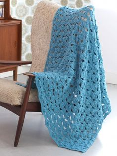 Light and Airy Afghan | Yarn | Free Knitting Patterns | Crochet Patterns | Yarnspirations