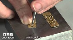 Patterned Brass Earrings Project