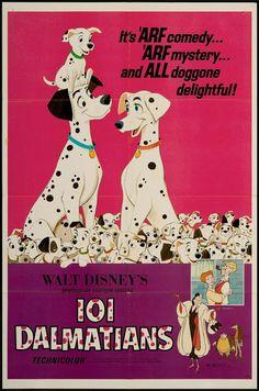 Disney 101 Dalmatians Movie Poster Wood Wall Art - Silver Buffalo - 101 Dalmatians - Artwork at Entertainment Earth Disney Movie Posters, Old Movie Posters, Classic Movie Posters, Original Movie Posters, Disney Films, Vintage Disney Posters, Music Posters, Disney Villains, 1960s Movies