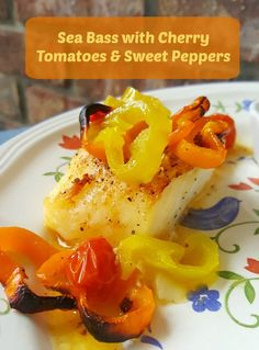 Sea Bass with Cherry Tomatoes & Sweet Peppers Recipe