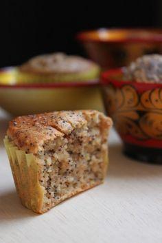 Muffins végétaliens aux graines de pavot et pommes, au tofu soyeux La cuisine d'Anna et Olivia [vegan]