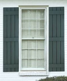 WOODEN SHUTTERS / WOOD SHUTTERS / HOUSE SHUTTERS: BOARD AND BATTEN SHUTTERS IDEAS